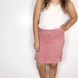 VINTAGE AEO | Mauve Pink Corduroy Pencil Skirt